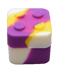 Building Block Silicone Jar w/ Lid Mixed Colors