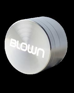 BLOWN Brand Grinder- 40mm, 4 piece, Silver