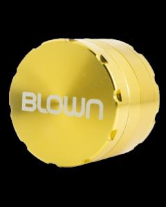 BLOWN Brand Aluminum Grinder w/ Notches- 40mm, 4 Piece, Gold