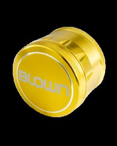 BLOWN Brand Aluminum Grinder- 55mm, 4 Piece, Gold-Curved
