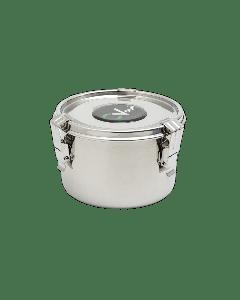 "C Vault Airtight Stainless Steel Storage Bowl-Medium 4""x5.5"" w/ 8g Boveda"
