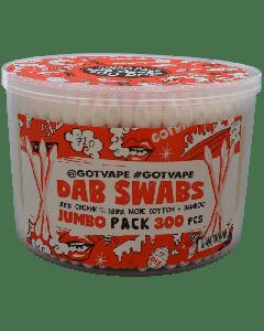 Dab Swabs 300ct Tub - 6 Pack
