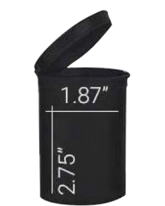 Loud Lock Pop Top Vials - Child Resistant - 30 Dram - 160ct - Black