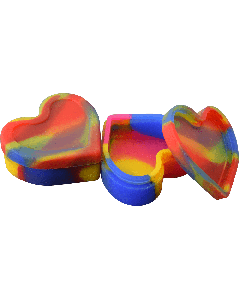 Heart Shaped Silicone Jar - Assorted Colors