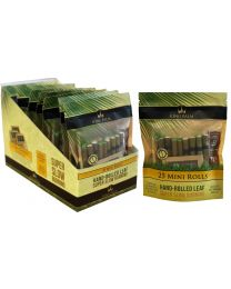 25 King Palm Mini Rolls w/ humidity pack and packing stick