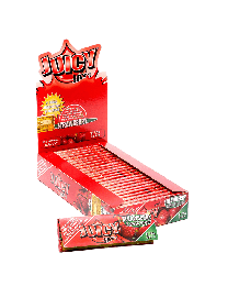 "Juicy Jay's 1 1/4"" Rolling Papers Strawberry 24ct. Box"