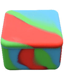 "2.25"" large Silicone Square Mixed Colors"