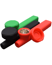 Silicone Hand Pipe w/ Mix Colors 4.75""
