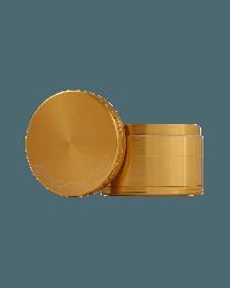 """2.5"""" Aerospaced 4 piece Grinder-Gold"""