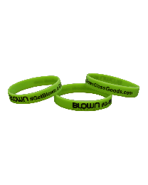 Blown Glass Goods--Rubber Promo Bracelet
