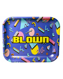 "Blown Rolling Tray - Limited Edition - 13""x11"", Retro Design"