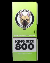 Cones Supply Bulk Cones- Hemp King Size (109mm/26mm Filter) 800ct