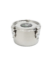 "C Vault Airtight Stainless Steel Storage Bowl-Medium 4""x5.5"" w/ 8g Boveda"