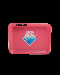 Glow Tray Illuminated Tray - Pink Dolphin