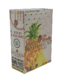 High Hemp- Pineapple Organic Hemp Wrap-2ct Pouch/25ct per Box