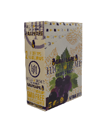 High Hemp- Grape Organic Hemp Wrap-2ct Pouch/25ct per Box
