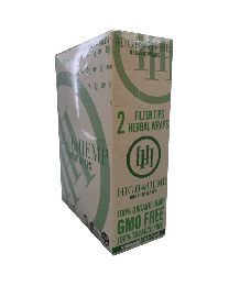 High Hemp-Orginal Organic Hemp Wrap-2ct Pouch/25ct per box