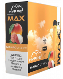 Hyppe Max-Mango Lychee Disposable Device - 5% Salt Nic, Display of 10 - 1600 Puffs Each