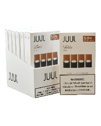 Juul 4 Pod Pack- Tobacco 5% (8ct Display) - 32 Total Nicotine Pods