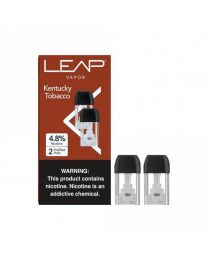 LEAP Vapor- Kentucky Tobacco Pods, 4.8% Nicotine (2 Pods/Pack, 5 Pack/Display) - 10 Total Nicotine Pods