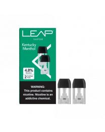 LEAP Vapor- Kentucky Menthol Pods, 4.8% Nicotine (2 Pods/Pack, 5 Pack/Display) - 10 Total Nicotine Pods