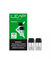 LEAP Vapor- Menthol Pods, 4.8% Nicotine (2 Pods/Pack, 5 Pack/Display) - 10 Total Nicotine Pods