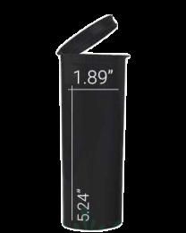 Loud Lock Pop Top Vials - Child Resistant - 60 Dram - 75ct - Black