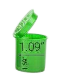 Loud Lock Pop Top Vials - Child Resistant - 6 Dram - 600ct - Green