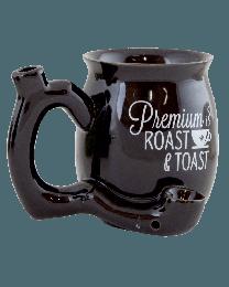 """Small """"Roast and Toast"""" pipe mug- Black"""