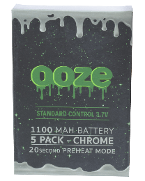 Ooze Batteries-5 Pack 1100 mah Chrome
