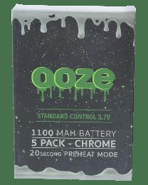 Ooze Batteries-5 Pack 1100 mah Chrome