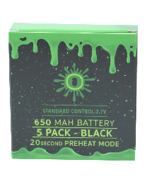 Ooze Batteries-5 Pack 650 mah Black