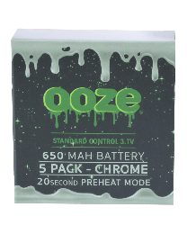 Ooze Batteries-5 Pack 650 mah Chrome