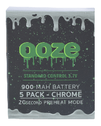Ooze Batteries-5 Pack 900 mah Chrome