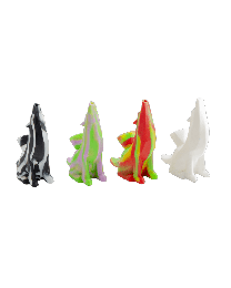 """Silicone Wolf Waterpipe- 5.5"""""""