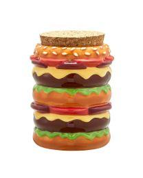 Cheeseburger Stash Jar